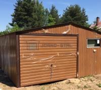 Garaż blaszany drewnopodobny