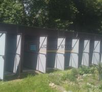 Szeregowe garaże blaszane dla spółdzielni mieszkaniowej